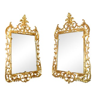 George II Gilt Pier Mirrors, 18th Century - A Pair For Sale