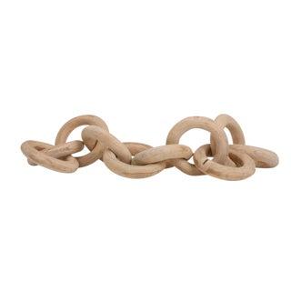 Gold Leaf Design Wood Chain