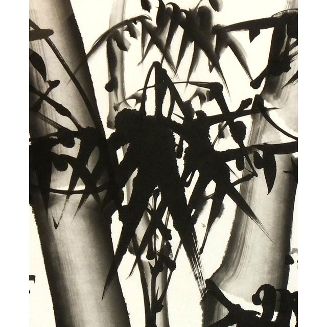 Chinese Bamboo Black and White Painting | Chairish