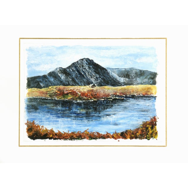 Mountaintop Lake Oil Painting - Image 4 of 4