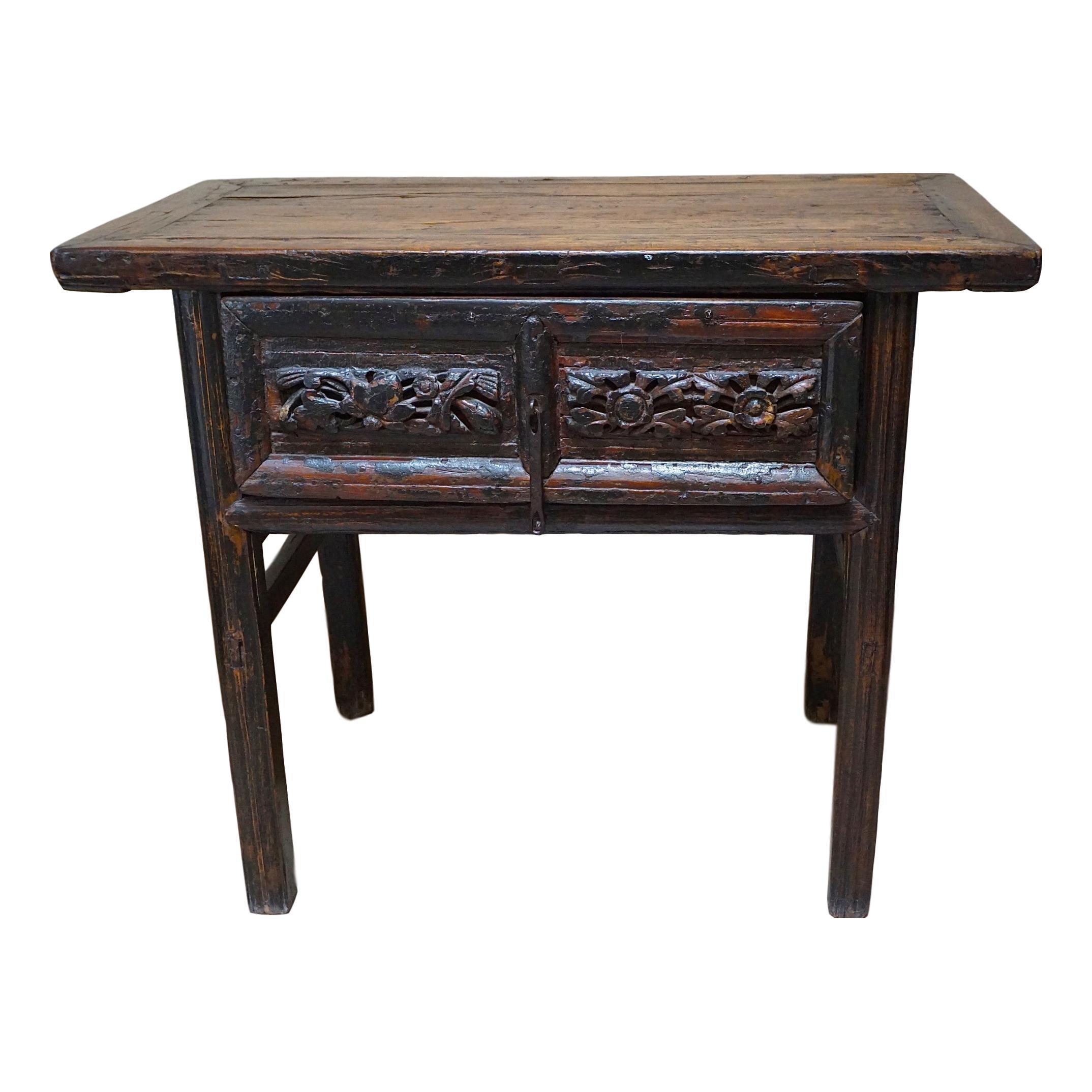 Primitive Painted Antique Asian Console Table Chairish