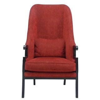 Asian Style Tall Back Arm Chair by Milo Baughman