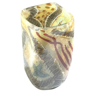 Contemporary Studio Glass Vase by Kenny Walton, Earthtones For Sale