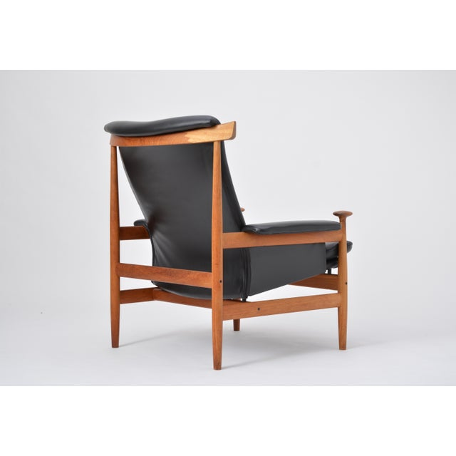 Black Reupholstered Bwana Model 152 Lounge Chair by Finn Juhl for France & Son For Sale - Image 10 of 12