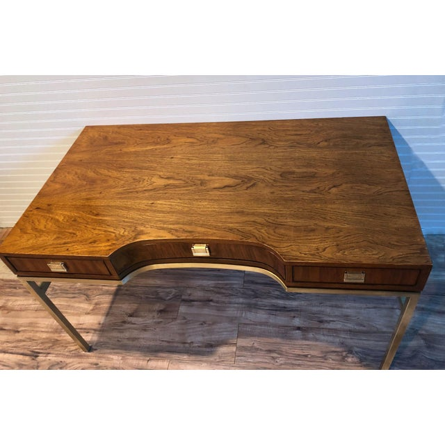 Drexel Consensus Campaign Writing Desk For Sale - Image 5 of 11