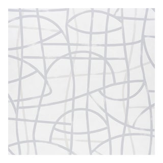 Sample - Schumacher Abstratto Wallpaper in Stone For Sale