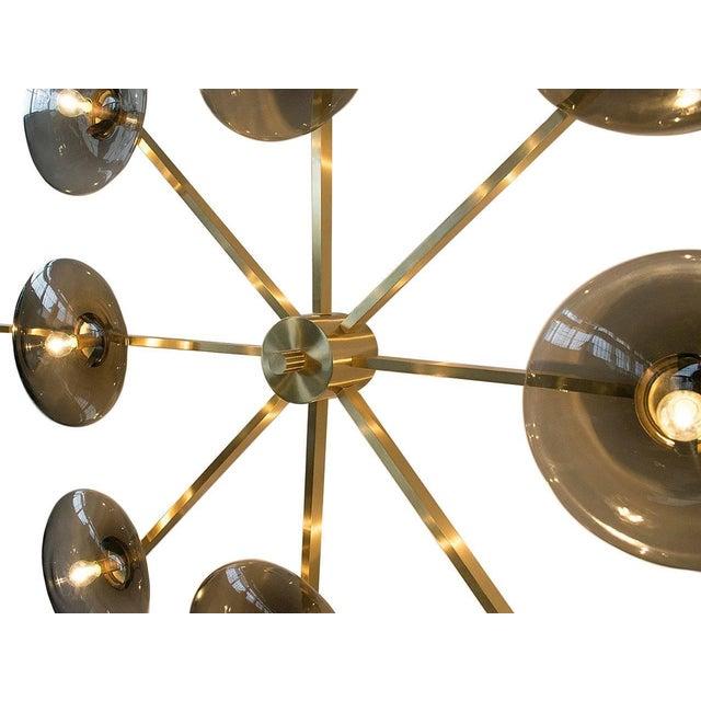 Gold Dieci Flush Mount by Fabio Ltd For Sale - Image 8 of 13
