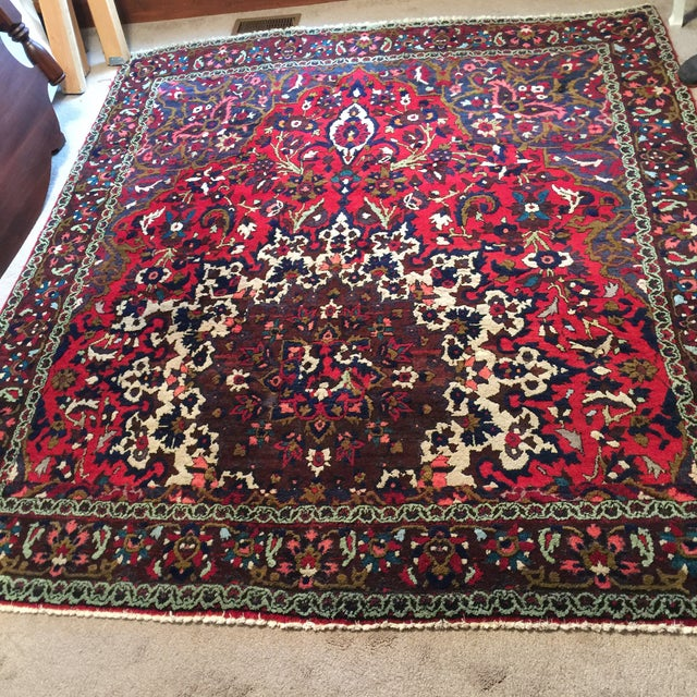 "Vintage Persian Rug 6'11"" X 7'11"" - Image 6 of 7"
