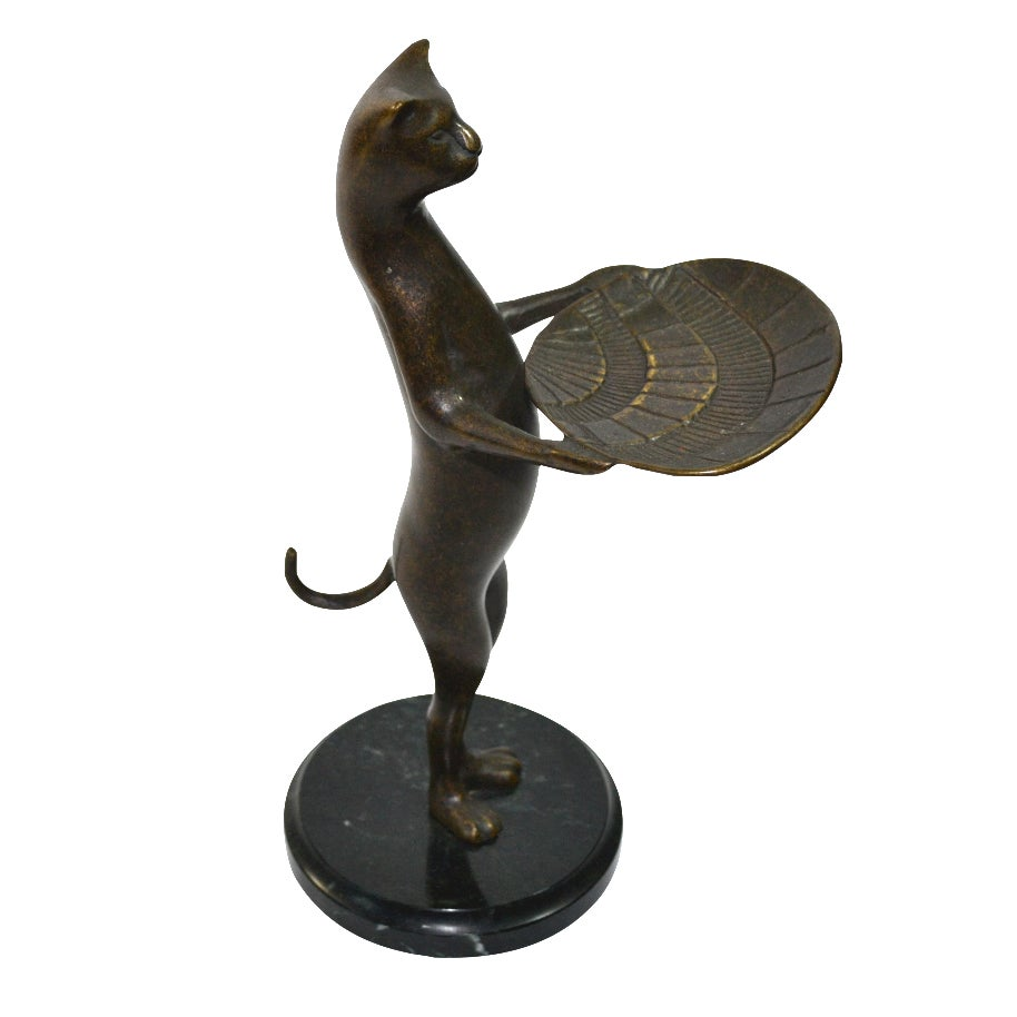 Vintage Cat Butler Cat Business Card Holder Cat Valet | Chairish