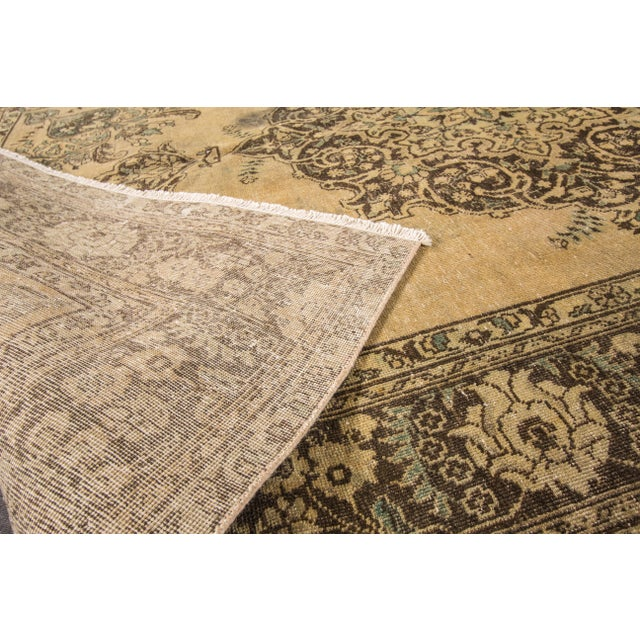 "Apadana Vintage Tabriz Rug - 6'6"" x 9'3"" For Sale In New York - Image 6 of 7"