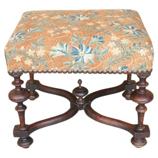 Louis XIV-Style Footstool For Sale