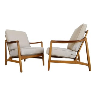 Teak & Oak Lounge Chairs by Tove & Edvard Kindt-Larsen For Sale