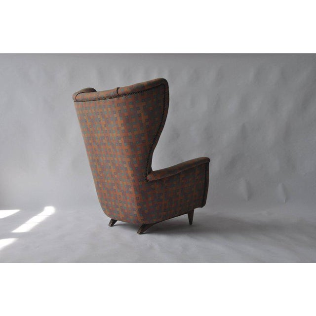 1950s Wingback Chair For Sale - Image 4 of 6