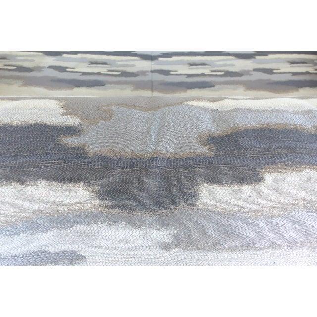 Italian Burl-Wood Upholstered Loveseat - Image 10 of 11
