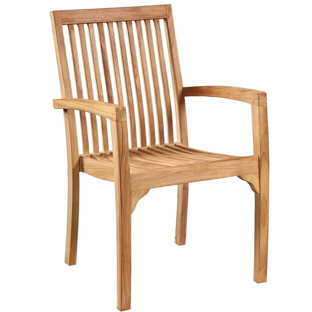Modern Teak Dining Chair For Sale - Image 3 of 3