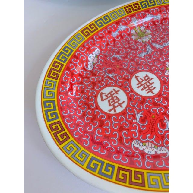 Asian Chinese Oval Serving Platter Melamine Set of 4 For Sale - Image 4 of 8