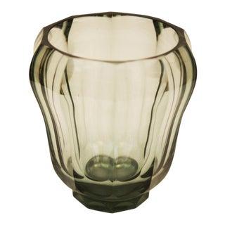 Art Deco crystal vase For Sale