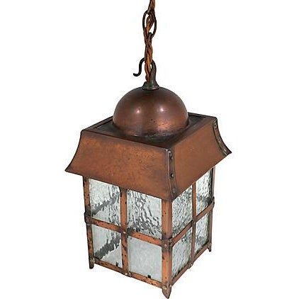 Antique Arts & Crafts Copper Lantern - Image 1 of 5