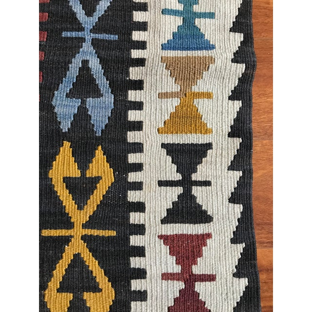 "Textile Vintage Anatolian Kilim - 5'8"" X 3'7"" For Sale - Image 7 of 9"