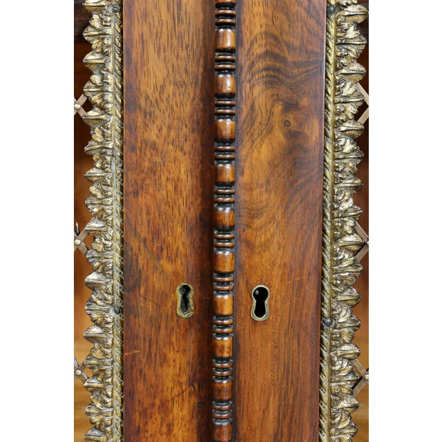 Gold Regency Rosewood, Ebonized and Bronze Mounted Credenza or Cabinet For Sale - Image 8 of 13