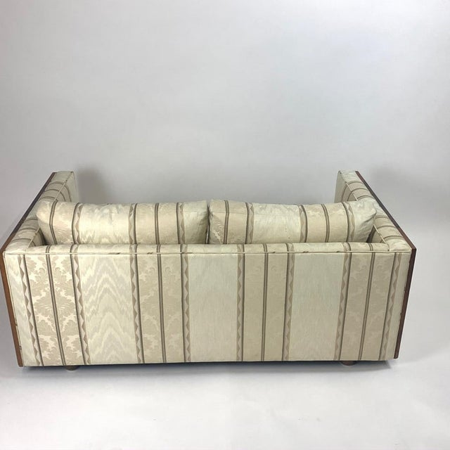 Milo Baughman Floating Cased Rosewood Tuxedo Sofas / Settees - a Pair For Sale - Image 11 of 13