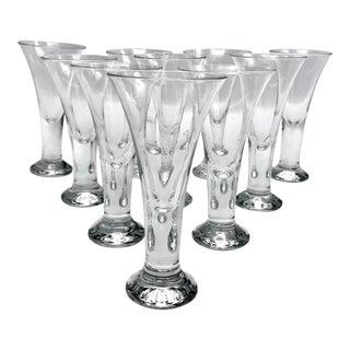 Vintage Blenko Blown Crystal Tavern Pattern Cordial or Shot Glasses - Set of 8 For Sale
