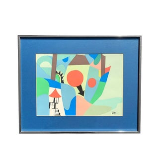 Vintage Paul Klee Lithograph Abstract Art For Sale