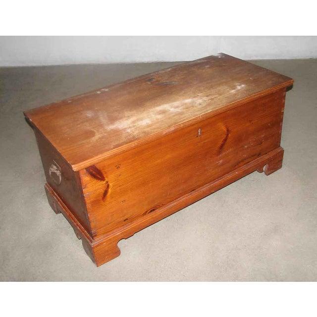 Primitive Antique Pine Chest For Sale - Image 6 of 8