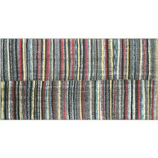"Nalbandian - 1960s Turkish Striped Kilim - 4'6"" X 8'9"" For Sale"