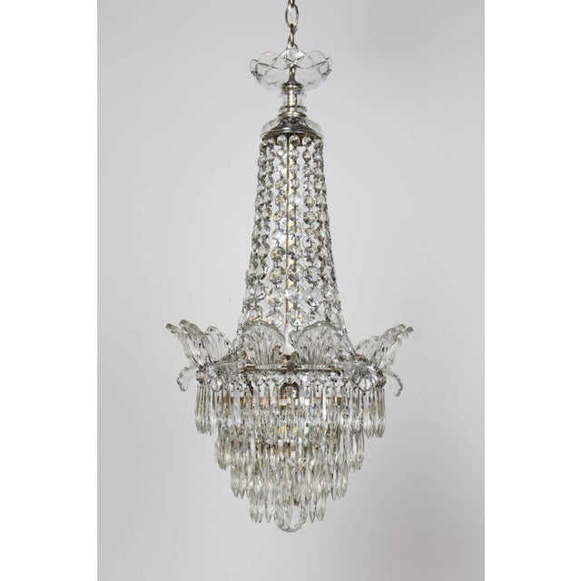 Silver Restored Antique Regency Style Silver and Crystal Chandelier For Sale - Image 8 of 8