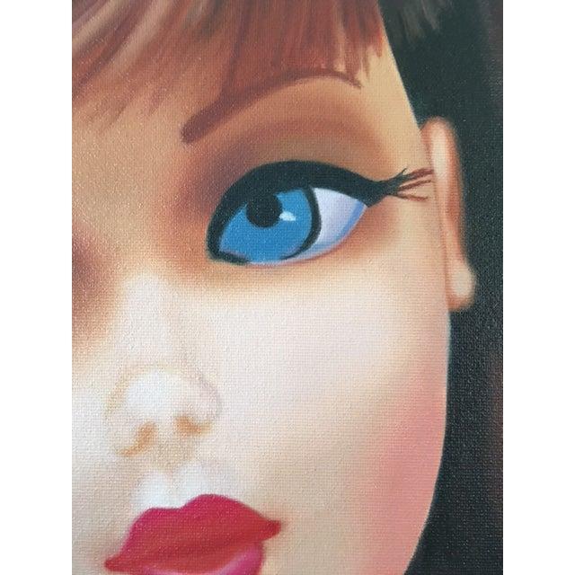 """""""Twist 'N Turn"""" Barbie Oil Painting For Sale In Los Angeles - Image 6 of 11"""