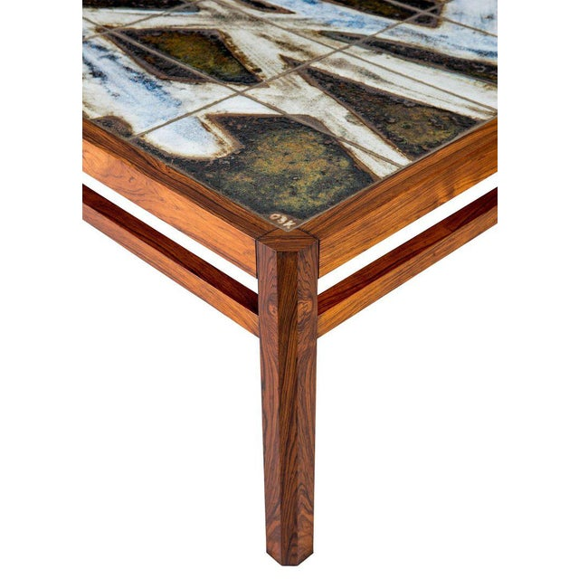 Danish Abstract Tile Coffee Table - Image 8 of 10