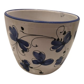 Italian Blue & White Cache Pot