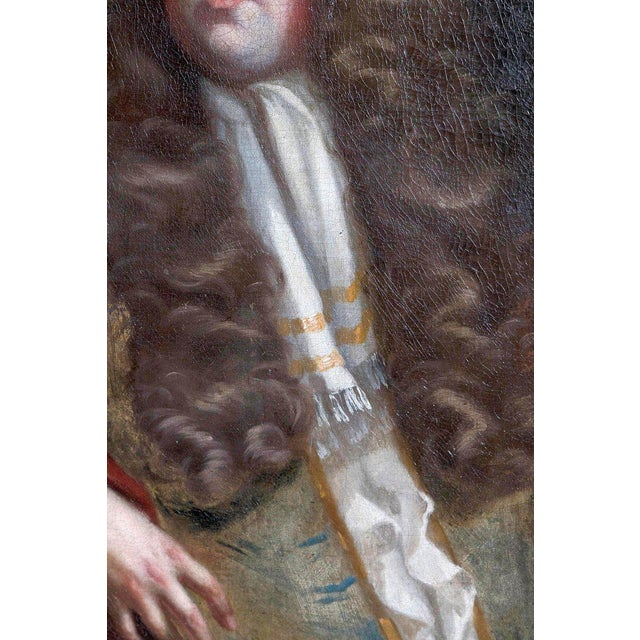 Canvas 18th Century Oil on Canvas Portrait of an English Gentleman For Sale - Image 7 of 13