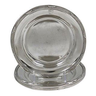 Art Deco Silver-Plate Hotelware Chargers - Set of 4 For Sale