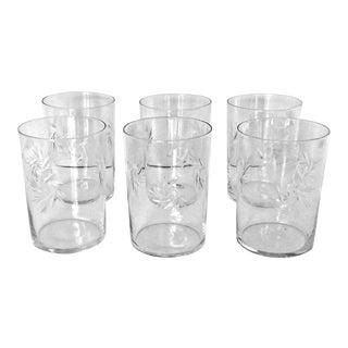 Vintage Atomic Cut Crystal Old Fashioned Glasses - Set of 6 For Sale