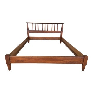 Willet Transitional Solid Cherry Mid Century Modern Double Bed For Sale