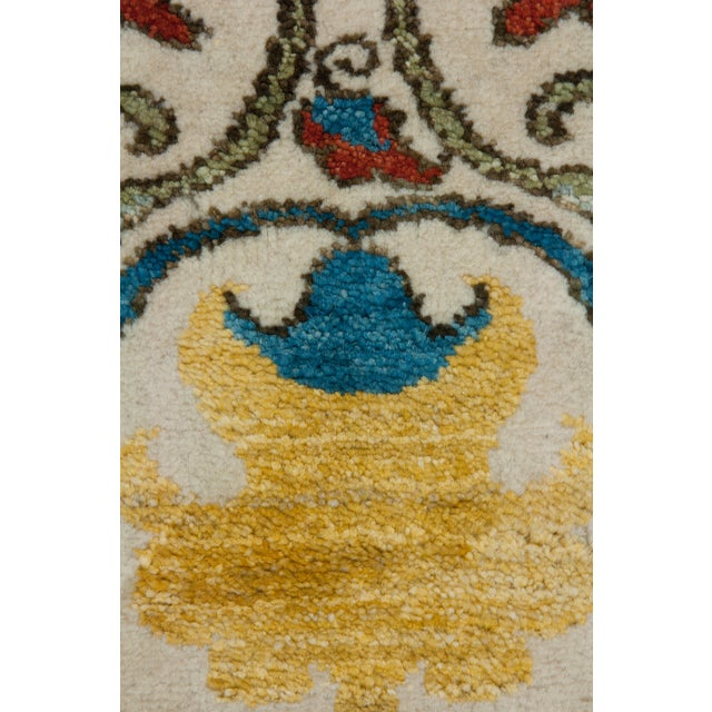 "Contemporary Suzani, Hand Knotted Runner - 3'3"" X 7'5"" For Sale - Image 3 of 3"