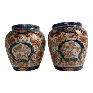 Early 20th Century Small Imari Vases - a Pair For Sale