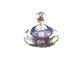 Lavender Saucer Shaped Glass Perfume Bottle For Sale
