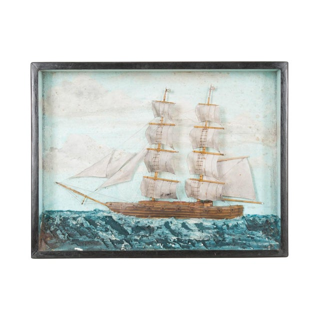 Textile 19th Century English Nautical Diorama For Sale - Image 7 of 7