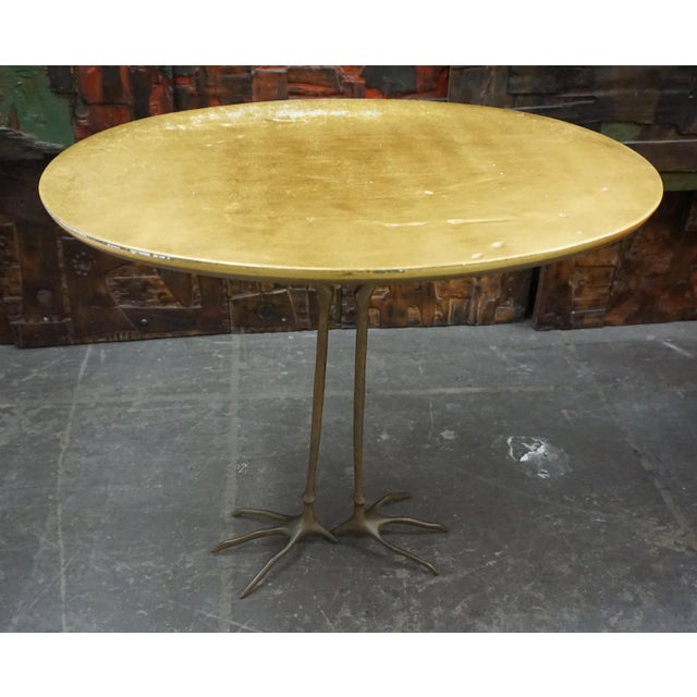 """Bronze """"Traccia"""" Occasional Table by Meret Oppenheim For Sale - Image 7 of 8"""