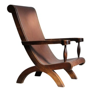 Clara Porset Attributed Butaque Lounge Chair For Sale