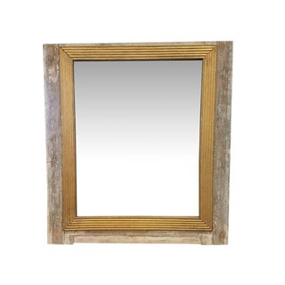 18th Century Louis XVI French Wooden Wall Mirror
