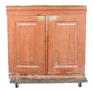 Mid 18th Century Antique Swedish Cabinet For Sale