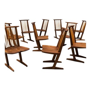 Set of Eight Conoid Chairs by George Nakashima, 1982 For Sale