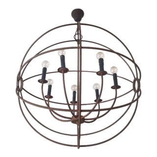 Restoration Hardware Iron Globe Chandelier