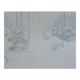 """Path in a Blizzard""Contemporary Painting by Stephen Remick For Sale"