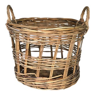Vintage French Boulangerie Basket For Sale