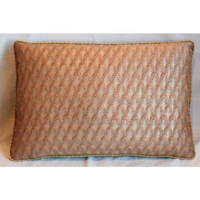 """Edwardian Italian Mariano Fortuny Piumette Feather/Down Pillows 23"""" X 15"""" - Pair For Sale - Image 3 of 13"""